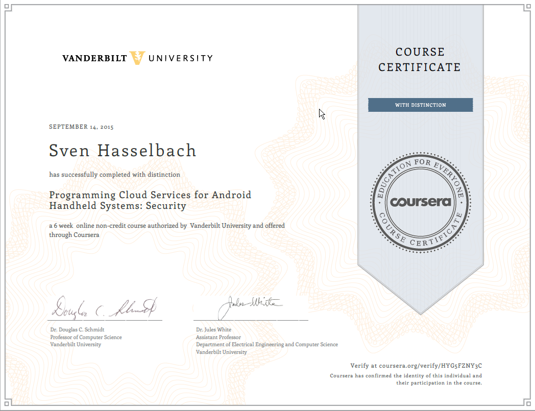 Coursera mobilecloudsecurity 2015